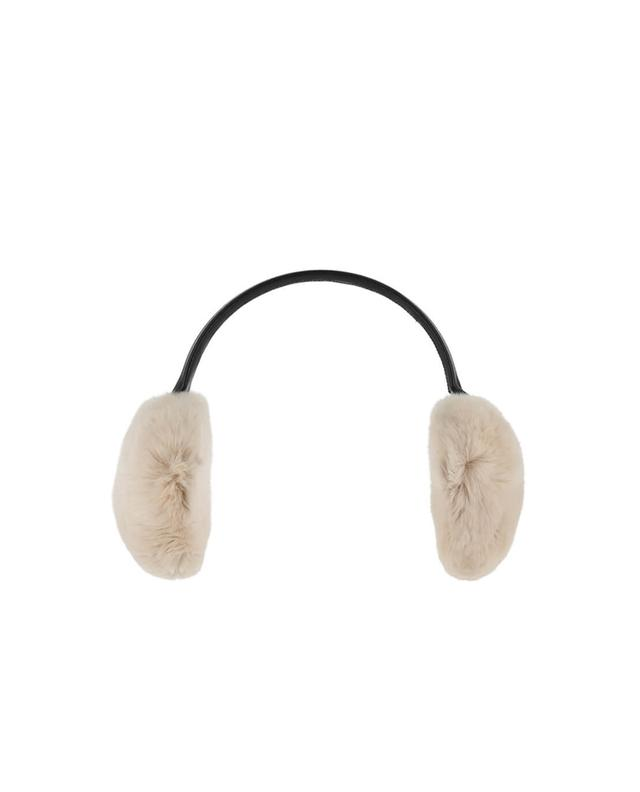 Yves salomon real fur earmuffs lightpink a42088