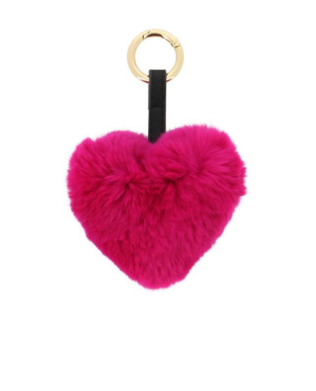 Yves salomon schlüsselanhänger aus pelz rosa a42090