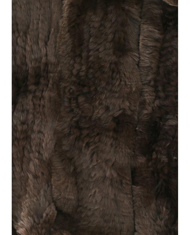 Yves salomon real fur scarf brown a42091