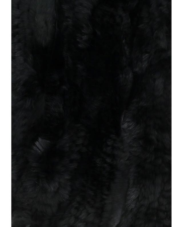 Yves salomon real fur scarf black a42091