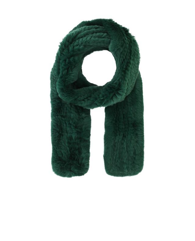 Yves salomon schal aus echtpelz grün a42091