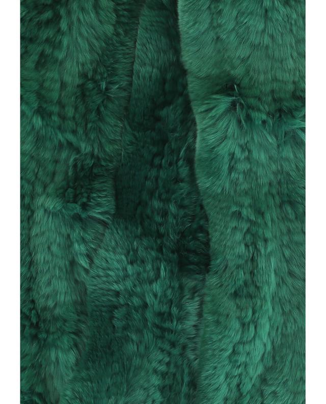 Yves salomon echarpe en fourrure véritable vert a42091