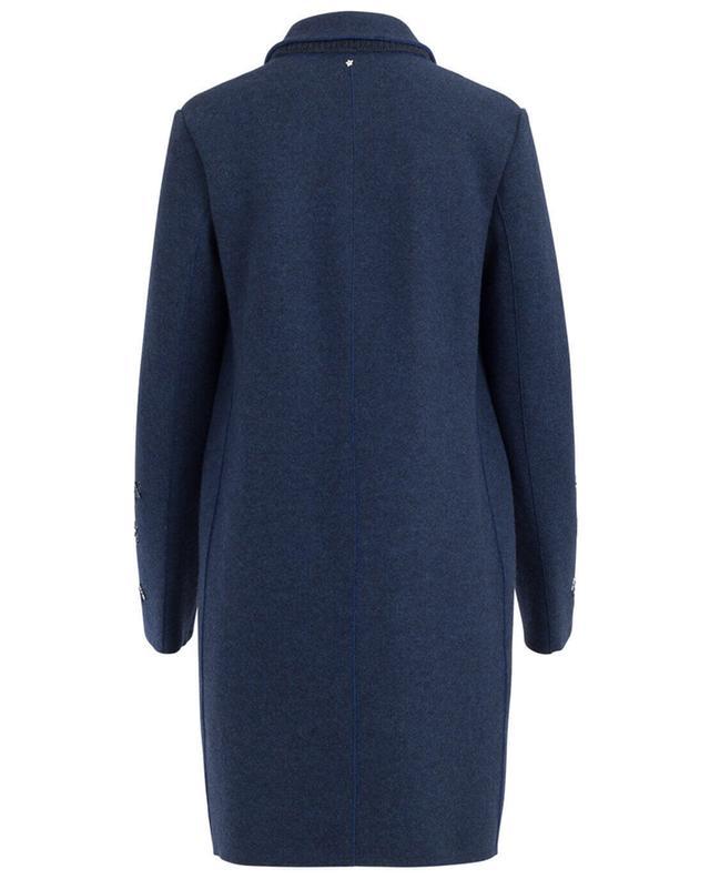 Straight virgin wool and cashmere coat LORENA ANTONIAZZI