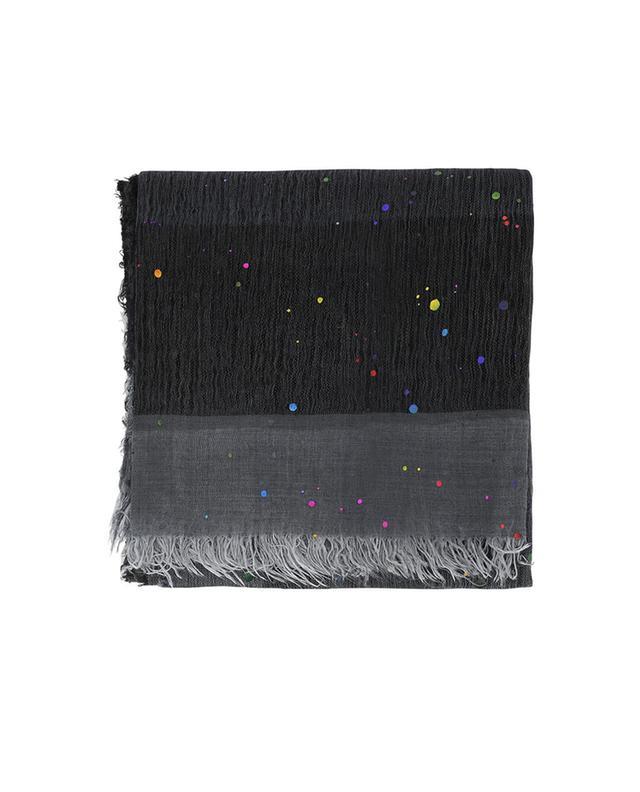 Faliero sarti foulard en cachemire, modal et soie anthracite