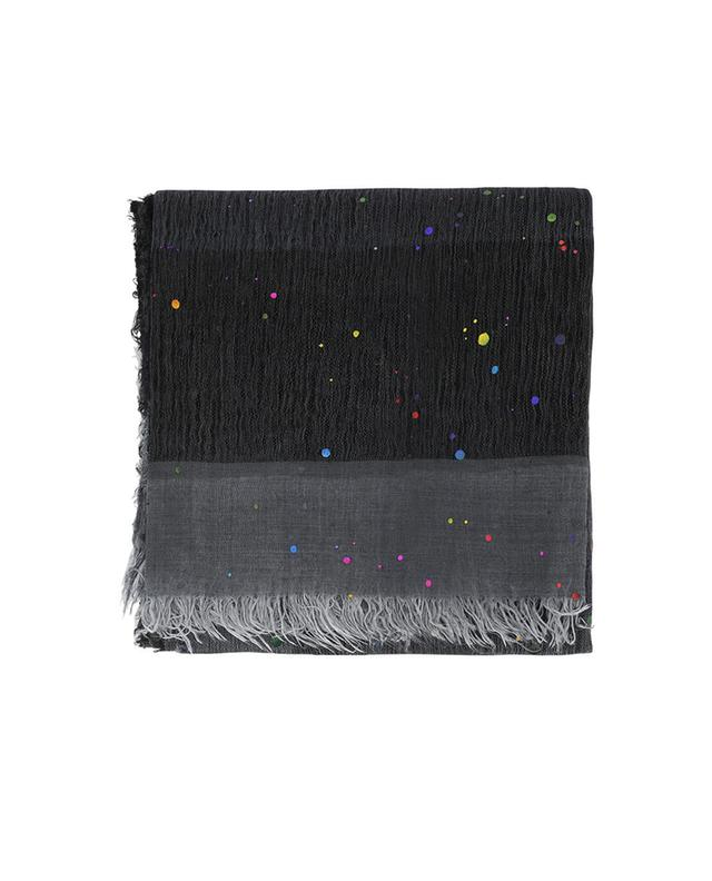 Faliero sarti cashmere, modal and silk shawl anthracite