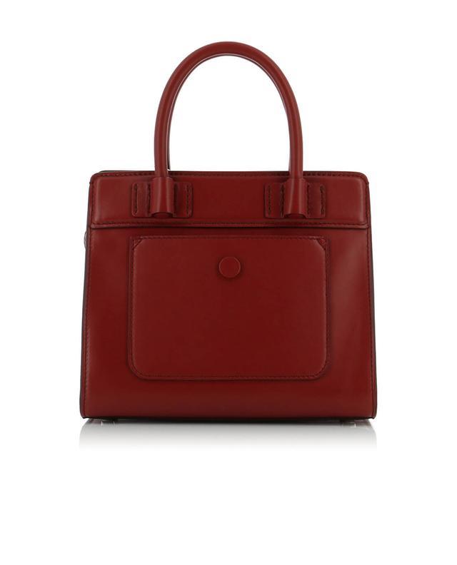Tod's mini-sac à main en cuir double t bordeaux a42684