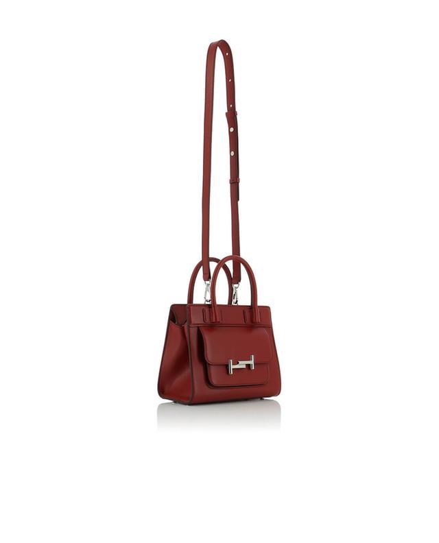 Tod's mini-handtasche aus leder double t weinrot a42684
