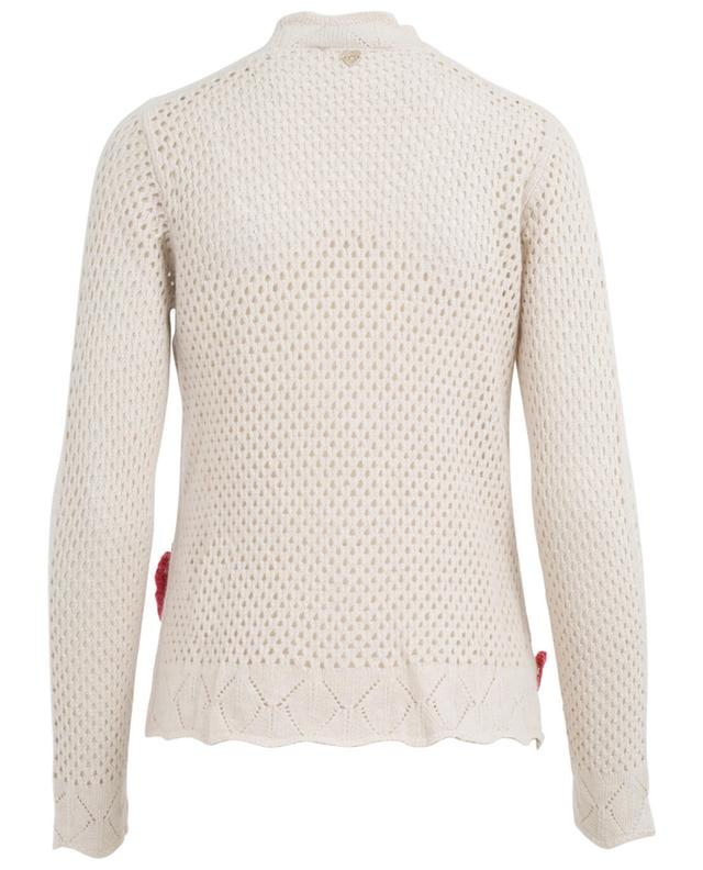 Viscose, cotton, wool and cashmere cardigan TWINSET