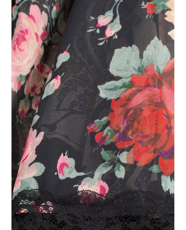 Bedrucktes Lingerie-Top Roses TWINSET