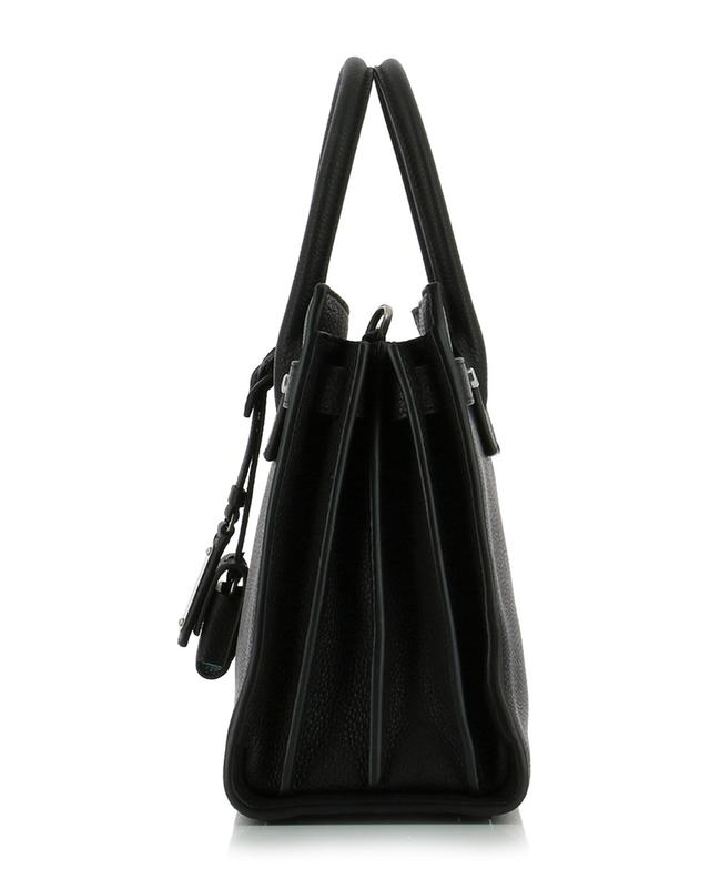 Saint laurent paris sac de jour grained leather handbag black