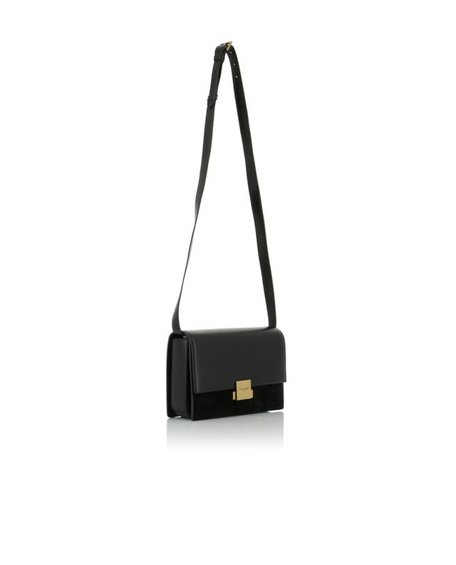 Saint laurent paris sac porté épaule en cuir et daim bellechasse medium noir