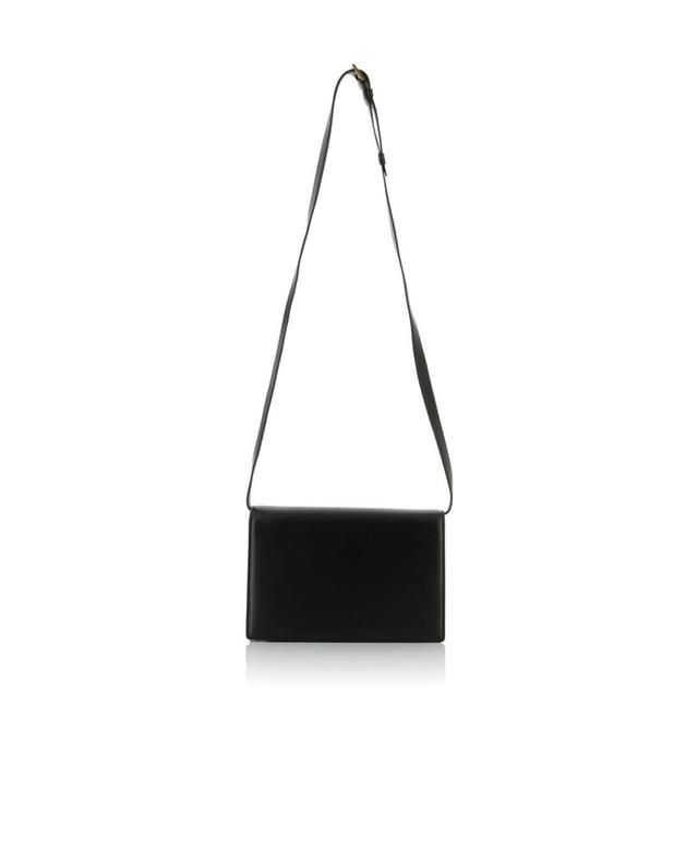 Saint laurent paris bellechasse medium leather and suede shoulder bag black