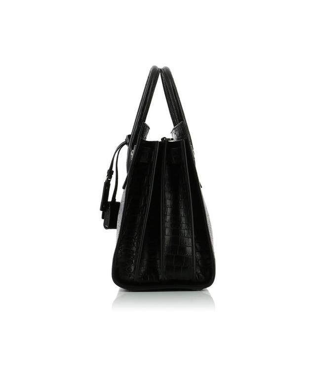Saint laurent paris petit sac de jour en cuir effet croco noir