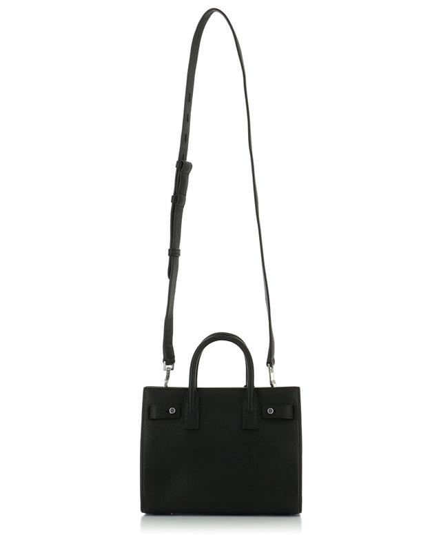 Saint laurent paris textured leather nano sac de jour black