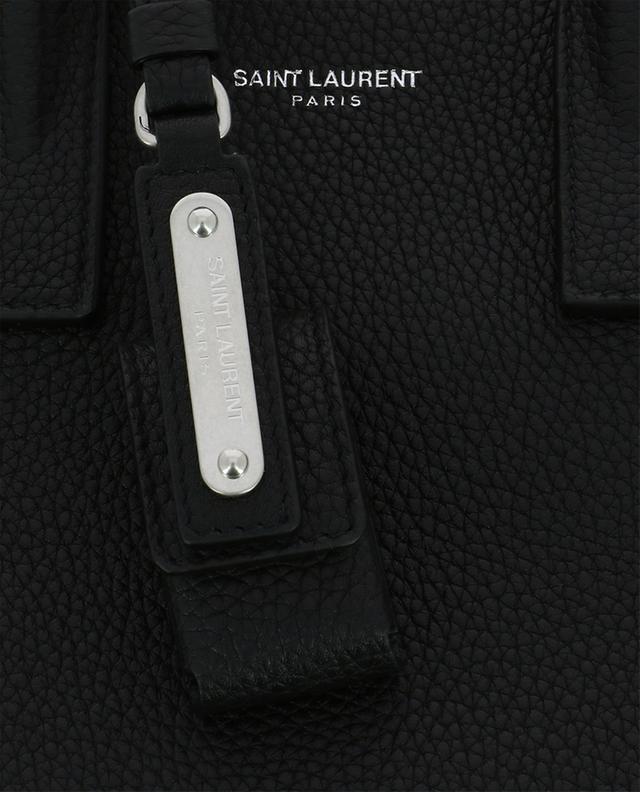 Saint laurent paris sac de jour nano aus strukturiertem leder schwarz