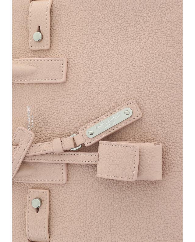 Saint laurent paris textured leather nano sac de jour lightpink