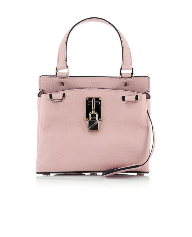 Valentino grained leather shoulder bag lightpink a42865