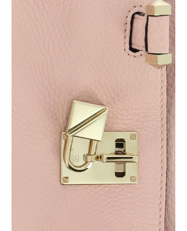Valentino sac porté épaule en cuir grainé roseclair a42865