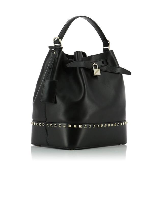 Valentino sac sceau en cuir rockstud noir a42875