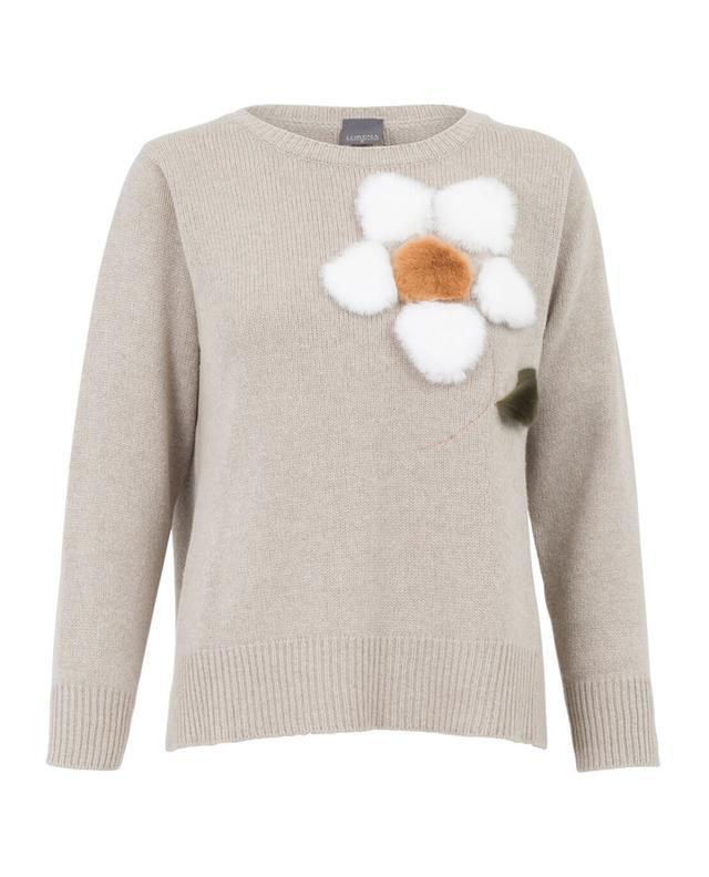 Pullover aus Schurwolle mit Pelz LORENA ANTONIAZZI