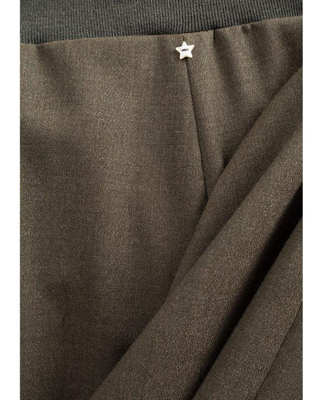 Virgin wool blend cropped large trousers LORENA ANTONIAZZI