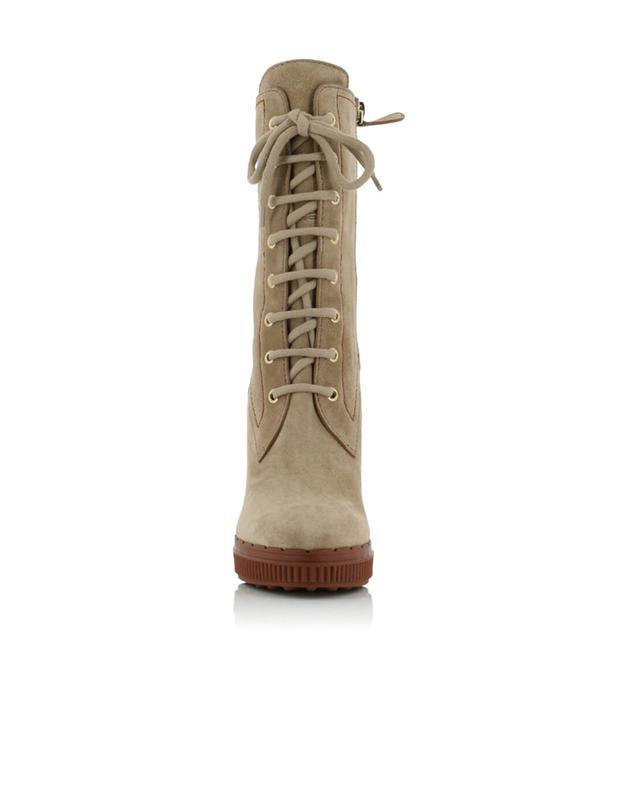Stiefel aus Veloursleder TOD'S