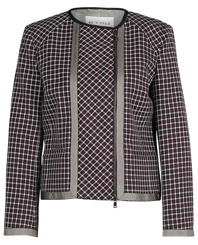 Checked short straigh blazer in wool ETRO