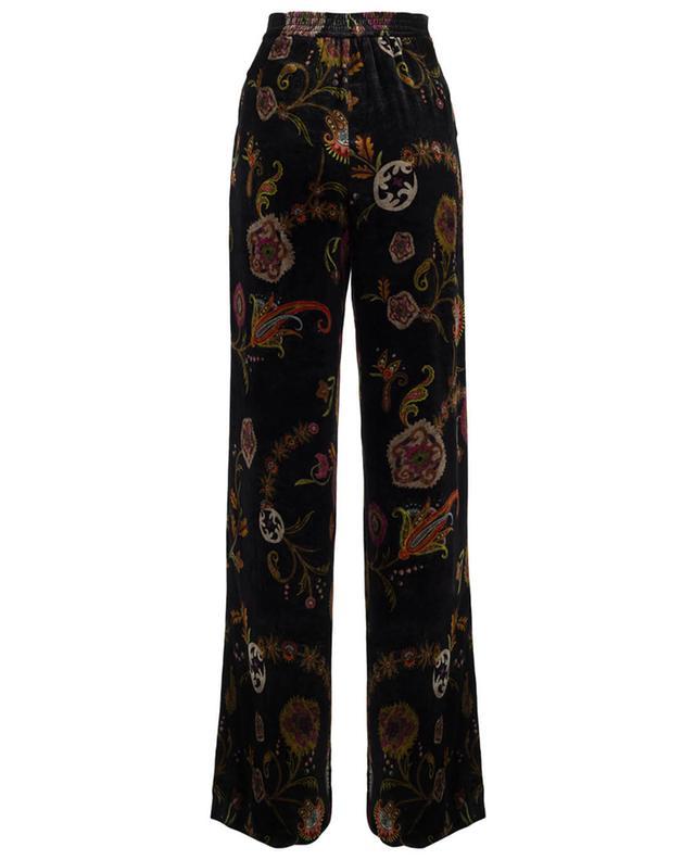 Wide-legged printed velvet trousers ETRO