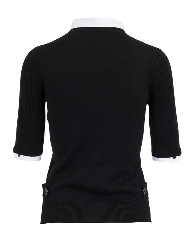 Piazza sempione virgin wool top black a43819