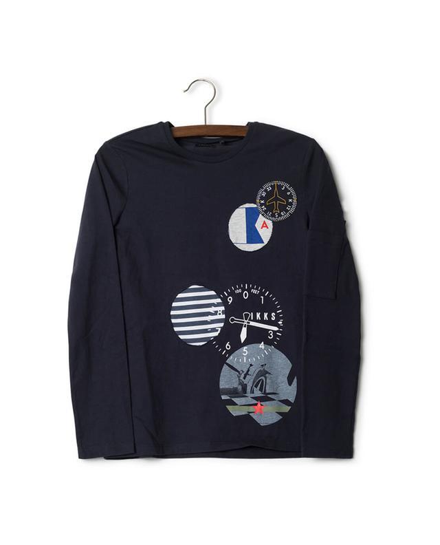T-Shirt mit langen Ärmeln aus Baumwolle IKKS JUNIOR