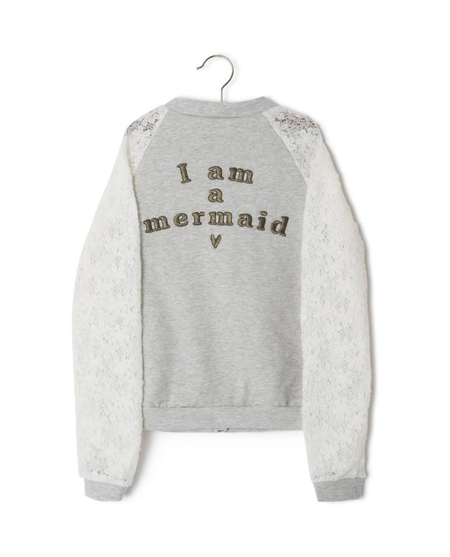 Sweat-shirt zippé en coton mélangé Mermaid IKKS JUNIOR