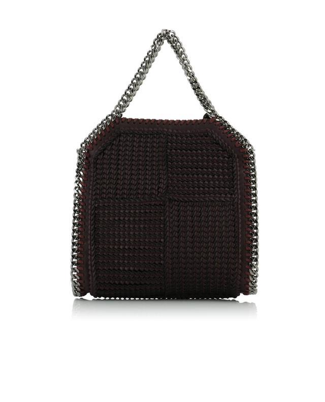 Stella mccartney falabella faux-leather shoulder bag burgundy