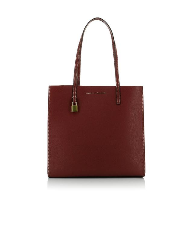 Marc jacobs shopper aus leder the grind weinrot a44286