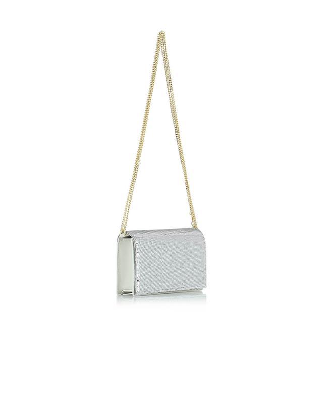 Soirée leather shoulder bag with sequins DIANE VON FURSTENBER