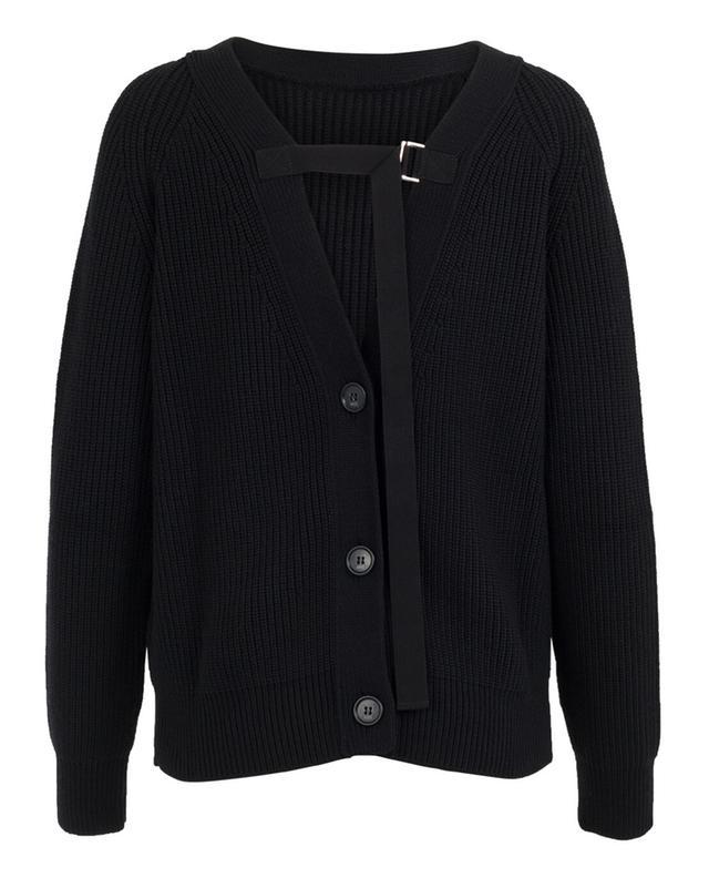 Pull en laine vierge détail oeillets N°21