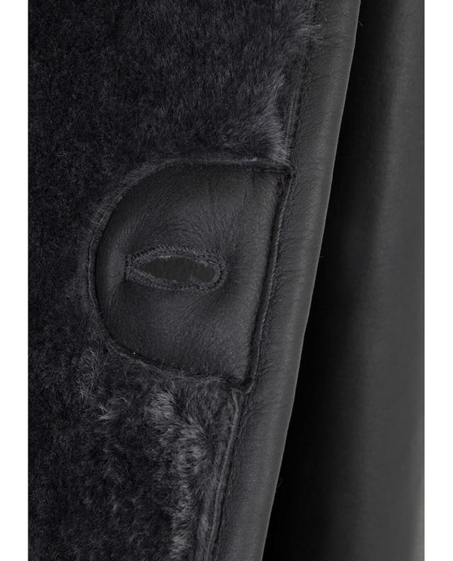 Shearling leather jacket ISAIA