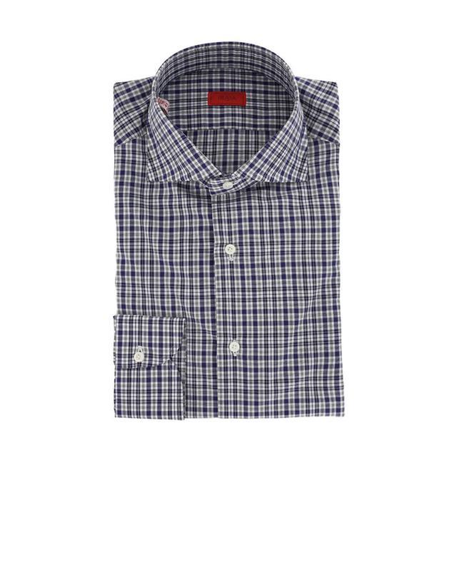 Chemise à carreaux en coton ISAIA