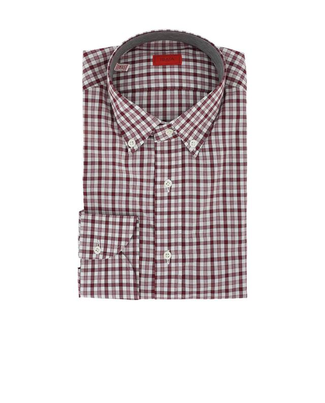 Kariertes Hemd aus Baumwolle ISAIA