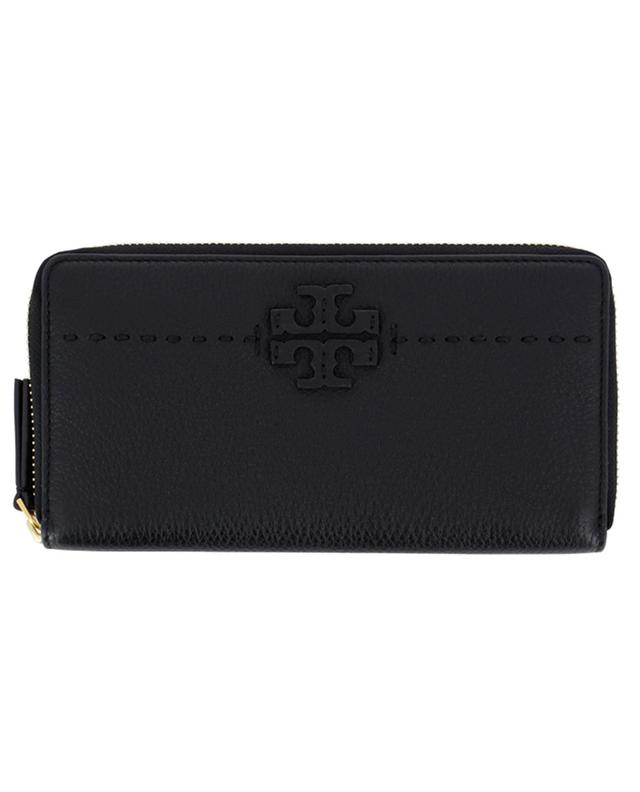 Portefeuille en cuir grainé McGraw TORY BURCH