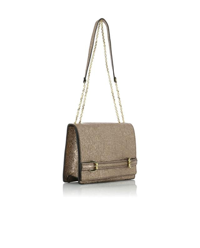 Textured leather shoulder bag GIANNI CHIARINI