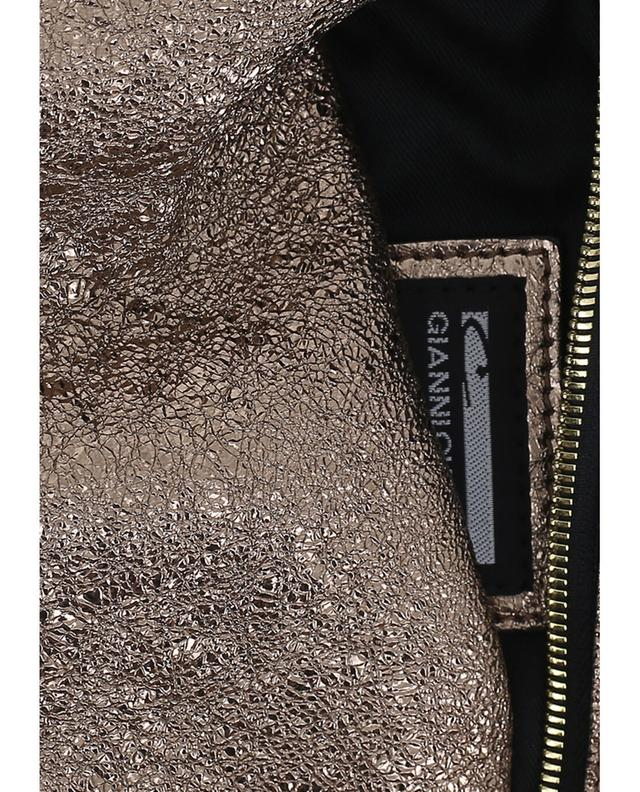 Gianni chiarini metallic leather crossbody bag golden a44572