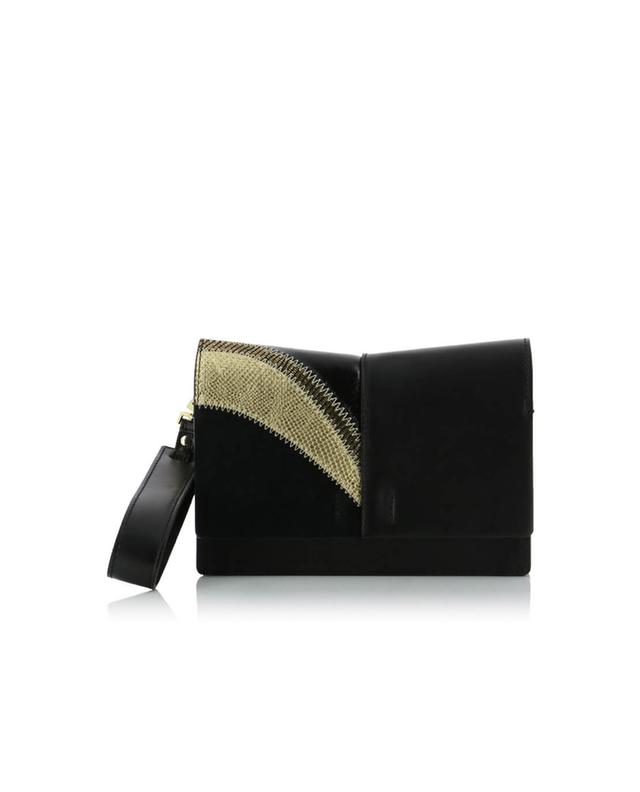 Patch leather clutch GIANNI CHIARINI