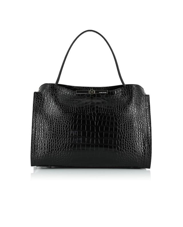 Gianni chiarini sac à main en cuir texturé noir a44576