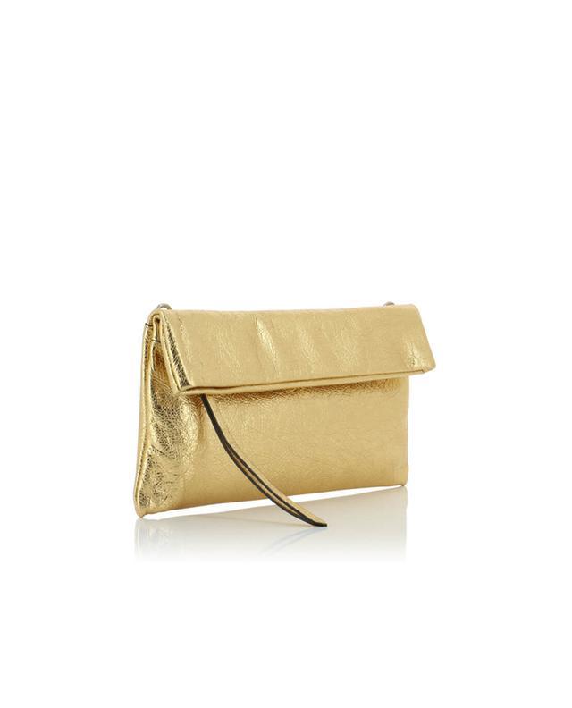 Metallic leather clutch GIANNI CHIARINI