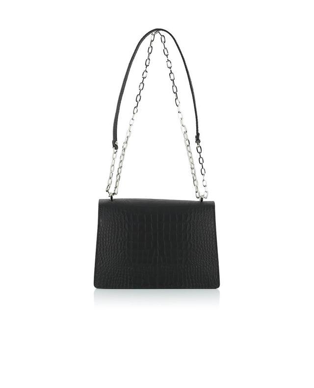 Gianni chiarini croc-effect leather shoulder bag black