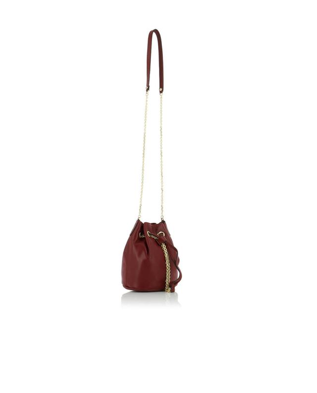 Leather bucket bag GIANNI CHIARINI