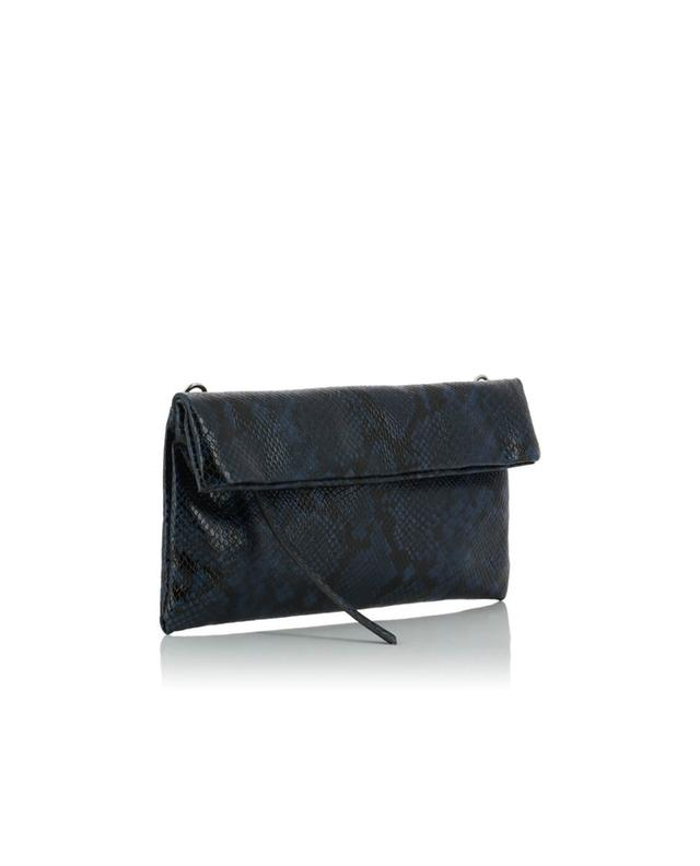 Snakeskin effect leather clutch GIANNI CHIARINI