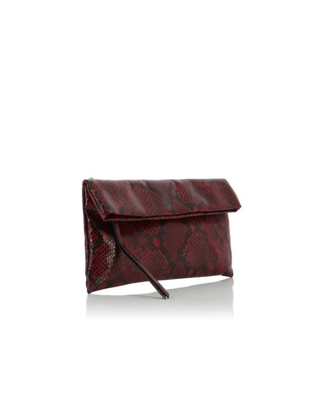 Snakeskin effect leather clutch GIANNI CHIARINI