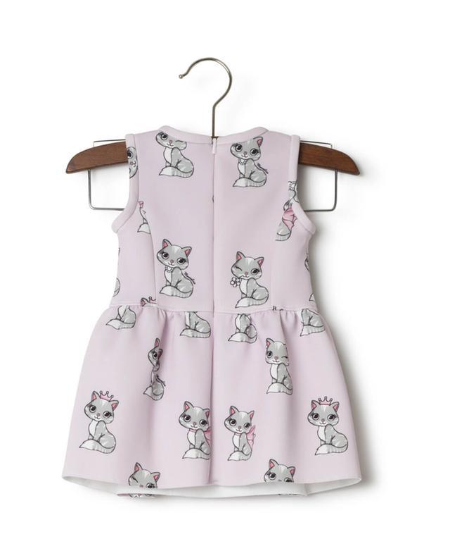 Kitten print dress MONNALISA