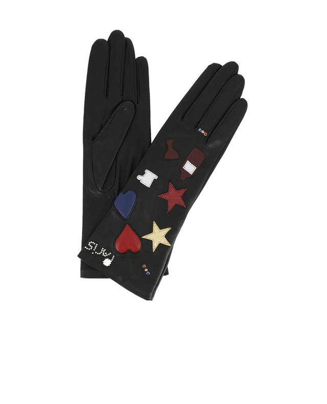 Paris embroidered leather gloves AGNELLE